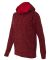 8616 J. America - Women's Cosmic Poly Contrast Hoo Red Fleck/ Red