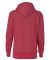 8860 J. America Women's Glitter French Terry Hood Red/ Silver