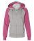8868 J. America Women's Glitter Hooded Full-Zip S Oxford/ Wildberry