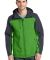 J335 Port Authority Hooded Core Soft Shell Jacket Vine Gn/Bat Gy