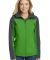 L335 Port Authority Ladies Hooded Core Soft Shell  Vine Gn/Bat Gy