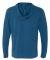 Next Level 6491 Sueded Lightweight Zip Up Hoodie COOL BLUE