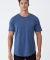 MC1050 Cotton Heritage Drop Tail Crew Neck T-shirt Shale Blue Heather
