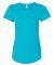 6750L Anvil Ladies' Triblend Scoop Neck T-Shirt HTH CARIB BLUE