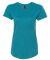 6750L Anvil Ladies' Triblend Scoop Neck T-Shirt HTH GALAP BLUE