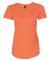 6750L Anvil Ladies' Triblend Scoop Neck T-Shirt HEATHER ORANGE