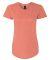 6750L Anvil Ladies' Triblend Scoop Neck T-Shirt HEATHER BRONZE
