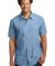 DM3810 District Made Mens Short Sleeve Washed Woven Shirt Catalog