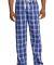District DT1800 Young Mens Flannel Plaid Pant Deep Royal