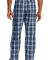 District DT1800 Young Mens Flannel Plaid Pant True Navy