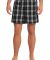 District DT1801 Young Mens Flannel Plaid Boxer  Black