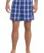 District DT1801 Young Mens Flannel Plaid Boxer  Deep Royal