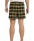 District DT1801 Young Mens Flannel Plaid Boxer  Gold
