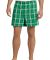District DT1801 Young Mens Flannel Plaid Boxer  Kelly Green