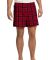 District DT1801 Young Mens Flannel Plaid Boxer  New Red