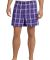 District DT1801 Young Mens Flannel Plaid Boxer  Purple