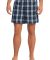 District DT1801 Young Mens Flannel Plaid Boxer  True Navy
