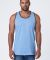 MC1792 Cotton Heritage Men's Ringer Tank Light Blue Heather/Cacao Shell
