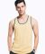 MC1792 Cotton Heritage Men's Ringer Tank Vintage Gold/Harbor Blue