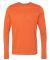 Gildan G474 Adult Tech Long Sleeve T-Shirt MARBLED ORANGE