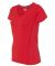 Gildan G47V Ladies Tech V-Neck T-shirt RED