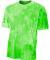 NB3295 A4 Drop Ship Youth Cloud Dye T-Shirt LIME