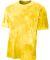 NB3295 A4 Drop Ship Youth Cloud Dye T-Shirt GOLD