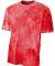 NB3295 A4 Drop Ship Youth Cloud Dye T-Shirt SCARLET