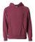 Independent Trading Co. PRM15YSB Youth Raglan Hood Crimson