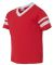 Augusta Sportswear 361 Youth V-Neck Football Tee RED/ WHITE