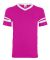 Augusta Sportswear 361 Youth V-Neck Football Tee POWER PINK/ WHT