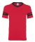 Augusta Sportswear 361 Youth V-Neck Football Tee RED/ BLACK