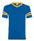 Augusta Sportswear 361 Youth V-Neck Football Tee ROYAL/ GOLD/ WHT