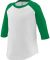 Augusta Sportswear 422 Toddler Baseball Tee White/ Kelly