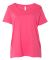LAT 3804 Curvy Collection Women's Scoop Neck Tee HOT PINK