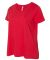 LAT 3804 Curvy Collection Women's Scoop Neck Tee RED