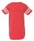 Rabbit Skins 4437 Infant Football Onesie VN RED/ BLD WHT