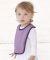 RS1004 Rabbit Skins Infant Jersey Contrast Trim Velcro™ Bib Catalog