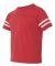 3037 Rabbit Skins Toddler Fine Jersey Football Tee Vintage Red/ White