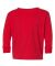 RS3302 Rabbit Skins Toddler Fine Jersey Long Sleev RED