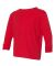 RS3302 Rabbit Skins Toddler Fine Jersey Long Sleev RED