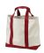 Port Authority B400 Two-Tone Shopping Tote Bag Natural/Red