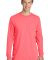 Port & Company PC099LS Pigment-Dyed Long Sleeve Te Neon Coral