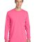 Port & Company PC099LS Pigment-Dyed Long Sleeve Te Neon Pink