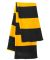 SP02 Sportsman  - Rugby Striped Knit Scarf -  Black/ Gold