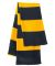 SP02 Sportsman  - Rugby Striped Knit Scarf -  Navy/ Gold