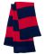 SP02 Sportsman  - Rugby Striped Knit Scarf -  Navy/ Red