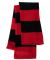 SP02 Sportsman  - Rugby Striped Knit Scarf -  Red/ Black