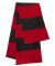 SP02 Sportsman  - Rugby Striped Knit Scarf -  Red/ Charcoal