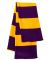 SP02 Sportsman  - Rugby Striped Knit Scarf -  Purple/ Gold